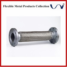 oil transfer 300 series corrugated stainless steel hose with flange connection