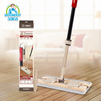 HOUSEHOLD TELESCOPIC HANDLE SOFT PLATE WITH MICROFIBER CLOTH 360 EASY MOP FLAT MOP FLOOR CLEAN MOP