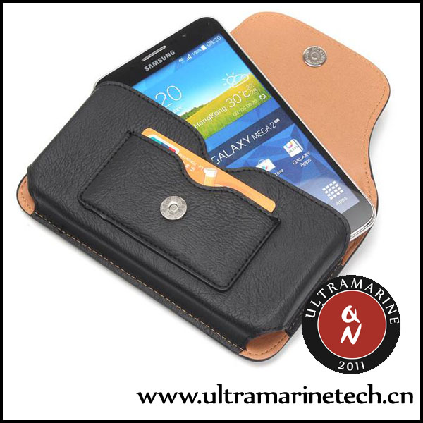 Ultramarine Universal <strong>Phone</strong> Retro Pockets Rhinoceros Pattern Card Slots Clip Leather Pouch 5.5 Inch