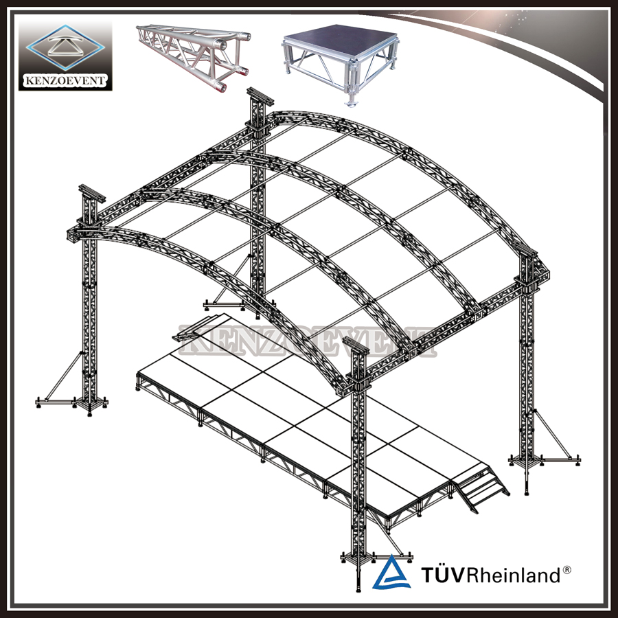 Attractive Aluminum Curved Truss System for Concert