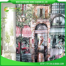 Polyester Flat Screen Best Wholesale Custom Printed Shower Curtain