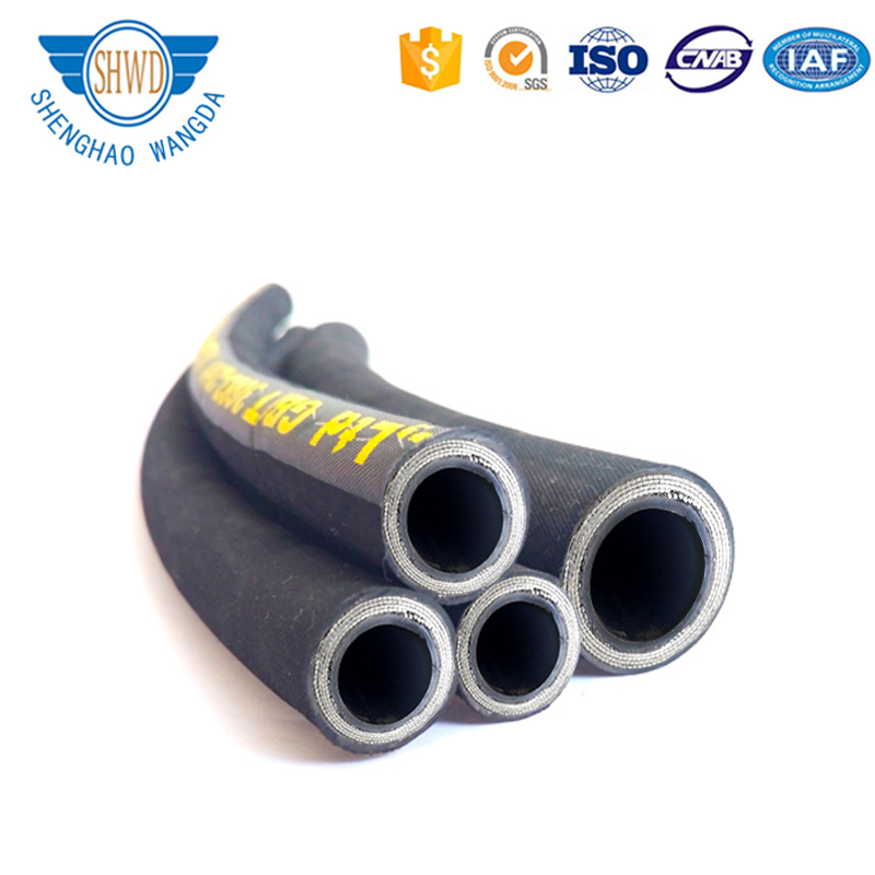 Low Price Steel Wire Reinforced High Pressure Flexible Rubber Hose Pipe/ Braided Hydraulic Rubber Hose