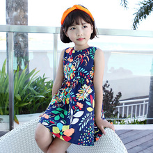 YD2912baby cotton frocks designs 2016 flower soft kid dress for 2-7T