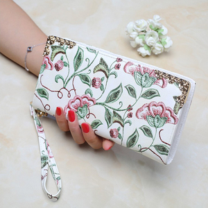 Fashion women printed PU leather wallet
