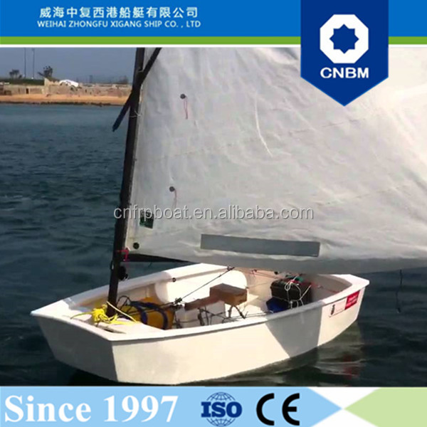 2.3m 7.5ft China Manufacturer Marine Standing High Quality Sailing Boats Optimist Sailboat with Prices