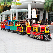 amusement park children play games trackless electric train price