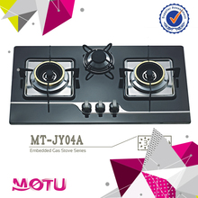 Stainless Steel Top Gas Hob Stove Cooktop with Enamel Pan Support