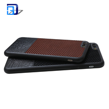 Premium Leather Back Flexible TPU Silicone Hybrid Soft Slim Mobile Phone Leather Case For iPhone Leather Case