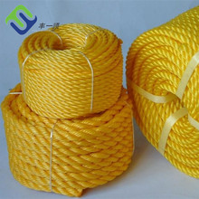 Yellow PP Packing Rope 3 Strand Polypropylene Rope 6mm