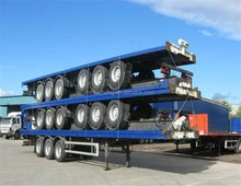 2 in 1 used china truck trailer 40ft container trailer 40 tons log truck trailer