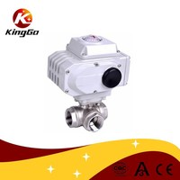 Motorized Power and water,oil,gas Media 3 way ball valve