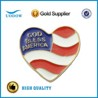 God Bless America Heart Flag Lapel Pins