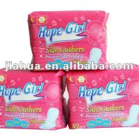 Sanitary Napkins With Side Gather