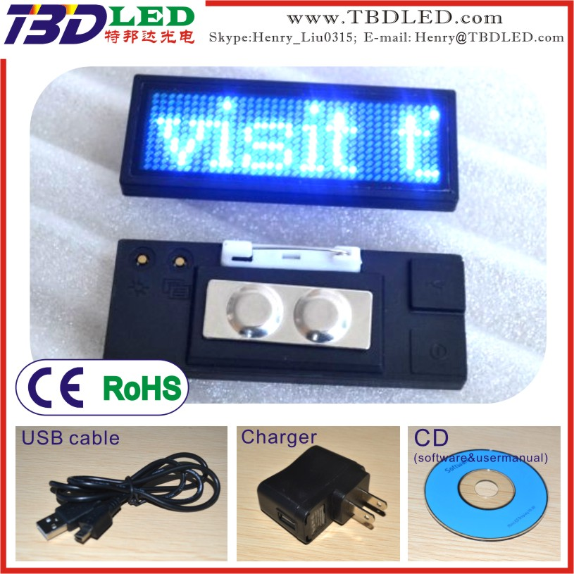 B1236 programmable led name badge,led numbers display boards,led programmable sign display board
