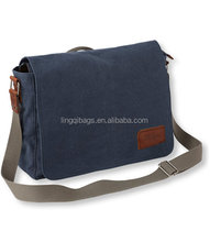 Fashion outdoor leisure canvas messenger bag for men and women