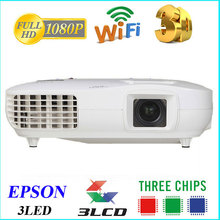 brightest 3 lcd projector with 1080 p full hd and spit screen projection 5000 ansi/100.000:1 CR projector looking like ep