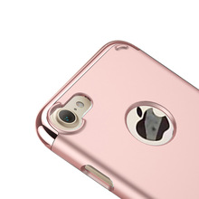 Amazon hot selling 3 in 1 electroplating pc case for Iphone 7 4.7' protecting the camera