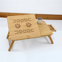 Hand made laptop lap desk with cooling fan adjustable laptop table for bed folding bed table laptop
