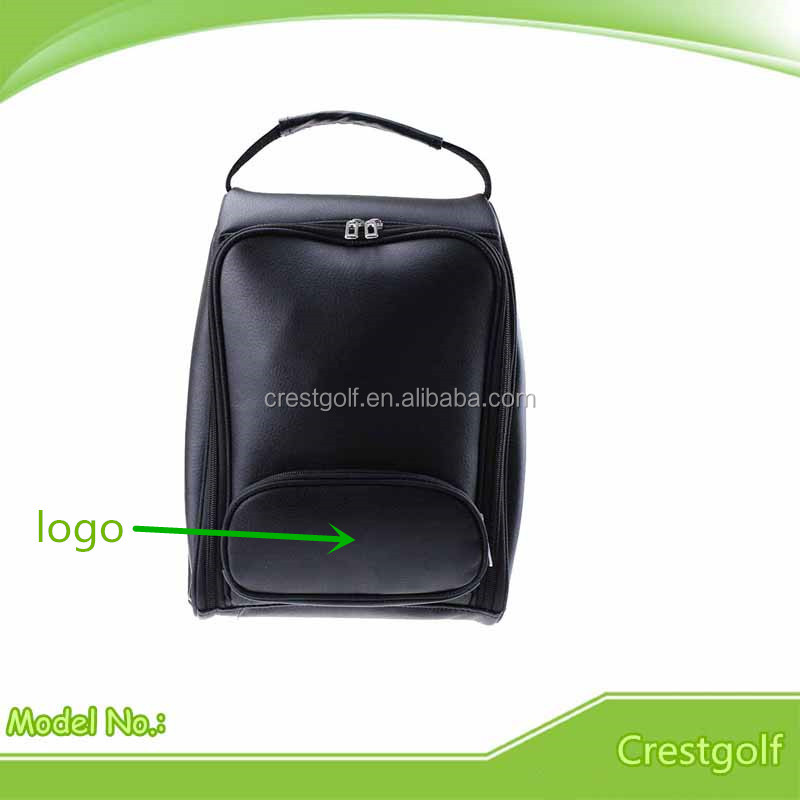 Factory Wholesale Custom Cheap PU Leather Golf Shoe Bag