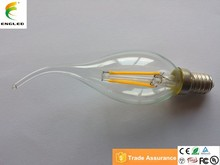 LED bulb manufacturing B35 E12 / E14 led filament bulb light 2 watt 360 degree CE/RoSH/TUV/UL 664