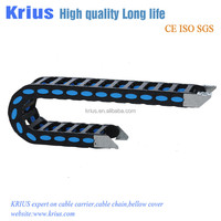 long travel plastic cable track chain with steel bracket