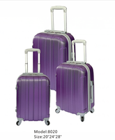 2015 Wide Purple Stripe 32 inch trolley luggage