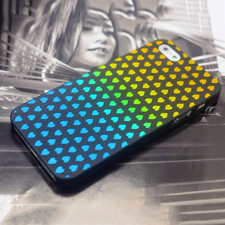Good quality new coming rivets veneer pc case for iphone5