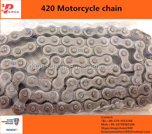 motorcycle spare parts cd70 black color 420 motorcycle chain and sprocket sets