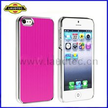 Brushed Aluminum Chrome Hard Case for Apple iPhone 5 5th Generation,Aluminum Hard Case Cover,High quality---Laudtec