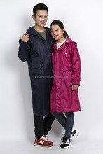 Environment friendly couple long raincoat safety rain poncho