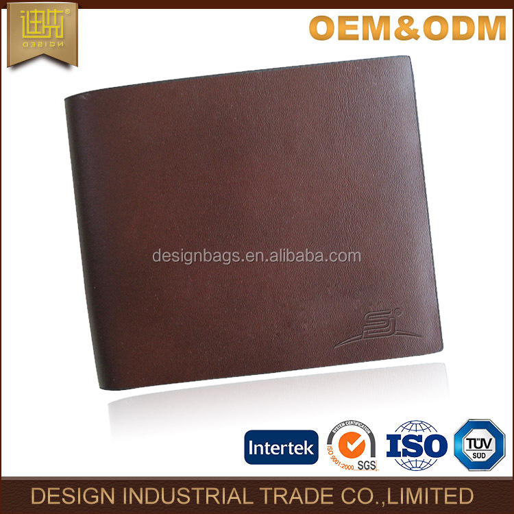 2016 Vintage genuine leather men wallet purse mens with card clutch