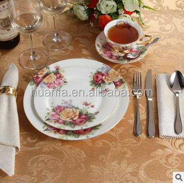 8pcs-Western Ceramic Dinner Plate Set Cup And Saucer Set for Dinnerware Tableware