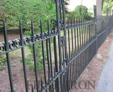 Pure hand forged wrought iron fence