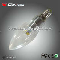 rechargeable electric e12 e14 2w led candle light bulb lamp