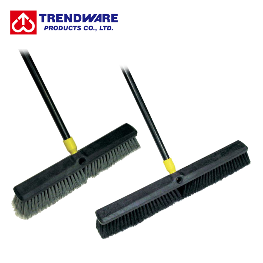 Flagged Bristle PP Plastic Floor Clean Sweep Broom
