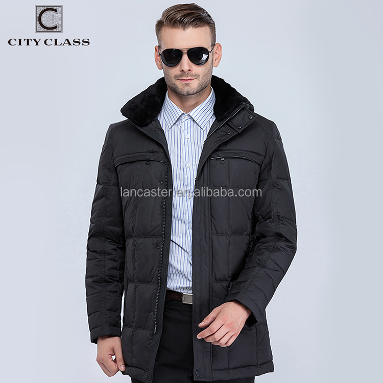 13291 Latest Design Fashion Man Waterproof Winter Down Coats Top Selling Warm Jacket Coat Feather Removable Rabbit Collar