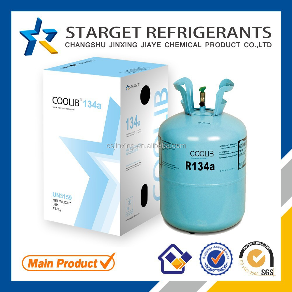 R134A El refrigerante used automobile air-condition and commercial refrigerating plant