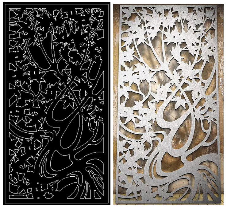 Decorative Exterior Laser Cut Metal Fencing Panel Screen