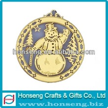 2013 Gold Snowman Christmas Ornaments