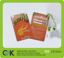 Pvc barcode card with magnetic stripe