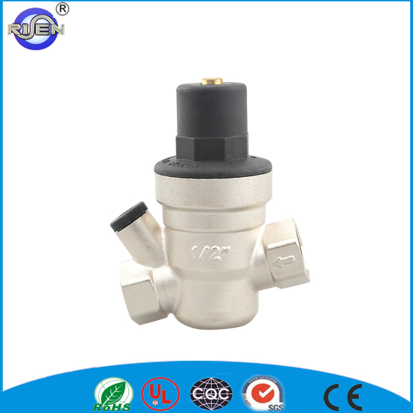 oblique pressure relif valve tilted brass PRV slanting reducing valve