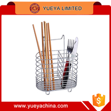 chromium plated stainless steel chopsticks rack basket table wares storage rack shelf