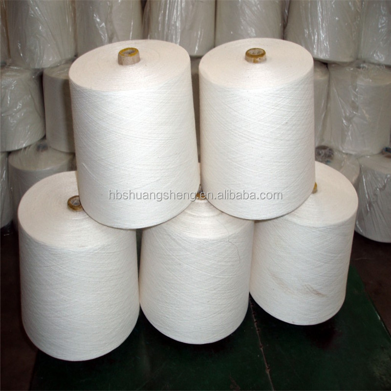 Ne16/1 OE carded recycled cotton knitting yarn for towel
