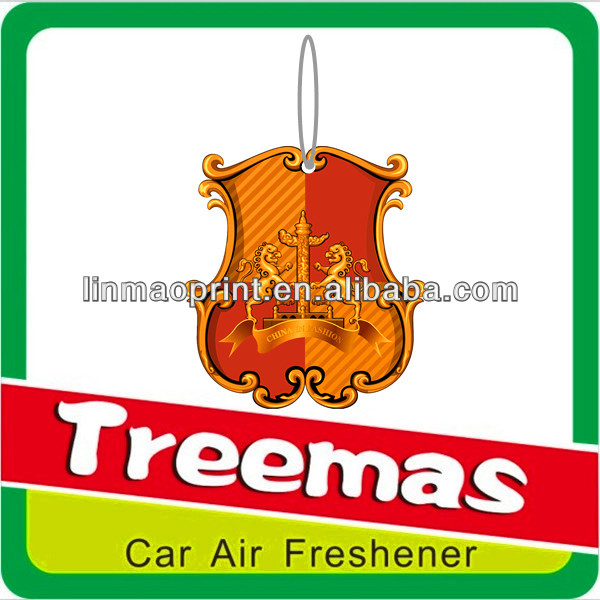 Hanging paper auto car air fresheners