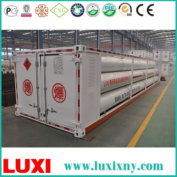 Nature Gas Container Oxygen Gas Cylinder CNG Semi Trailer , Compressed Natural Gas