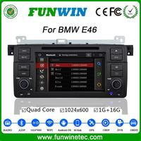 Top Version Android 4.4.4 multimedia system 1024x600 touch screen car DVD for BMW E46 mirror link GPS