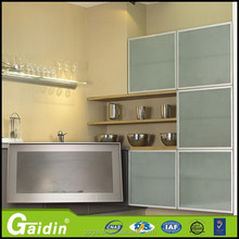 online shopping quality assurance extrusion aluminum frame kitchen cabinet glass door