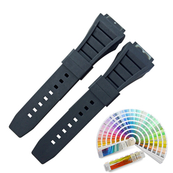 Black Long Length Special Silicon Watch Strap
