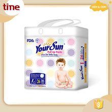 High Absorbency Natural Cotton Super Soft Disposable Baby Diapers
