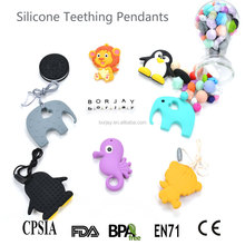 Colorful cute animal shapes silicone chew toys,baby toys teething